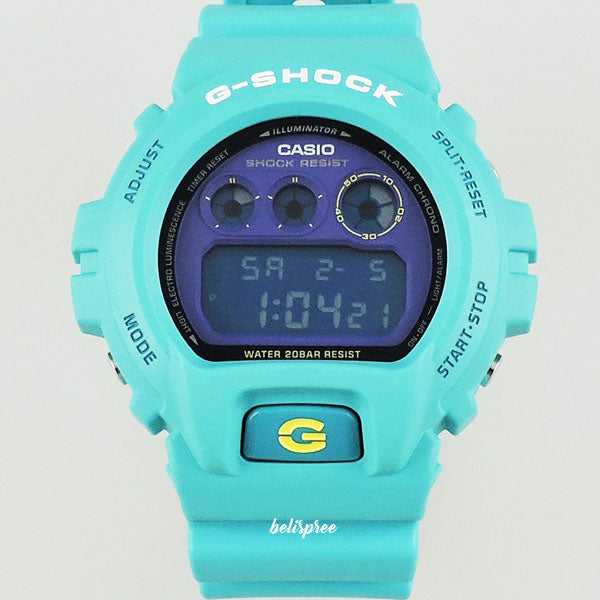 Casio G-Shock DW-6900SN-3 Mat Dial Turquoise Custom Assembled Resin Watch