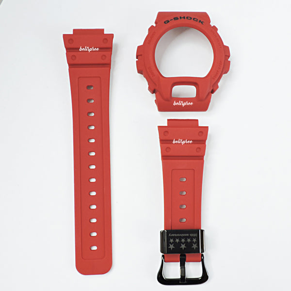 Casio G-Shock DW-6935C-4 35th Anniversary Red Out Resin Band & Bezel
