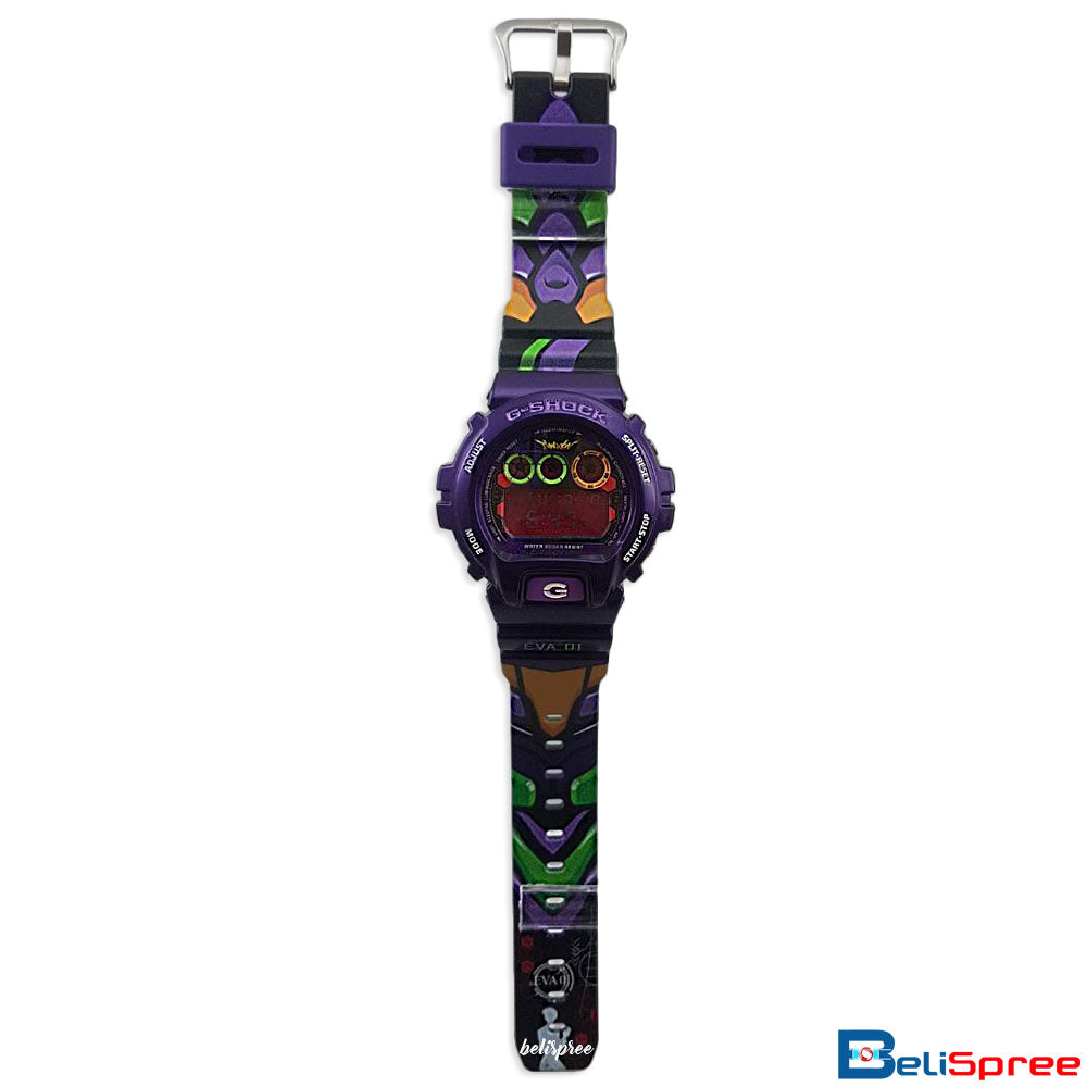 Casio G-Shock DW-6900 Evangelion Eva 01 Custom Printed Assembled Resin Watch