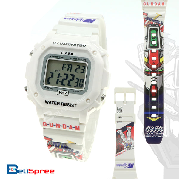 Casio F-108 Gundam RX-72-2 Custom Design Special Edition Resin Watch