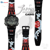 Casio AE-1000W Japan Map & Flag Custom Design Japan Edition Resin Watch