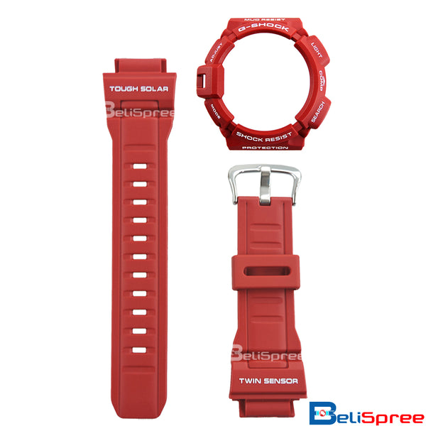 Casio G-Shock Mudman G-9300RD-4 Men in Rescue Red Resin Band & Bezel