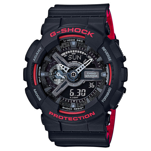 Casio G-Shock GA-110HR-1A Black x Red Heritage Color Resin Watch