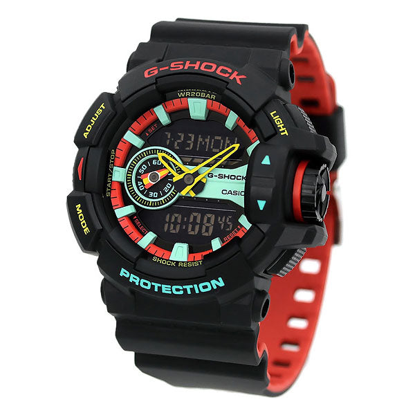 Casio G-Shock GA-400CM-1A Breezy Rasta Resin Watch