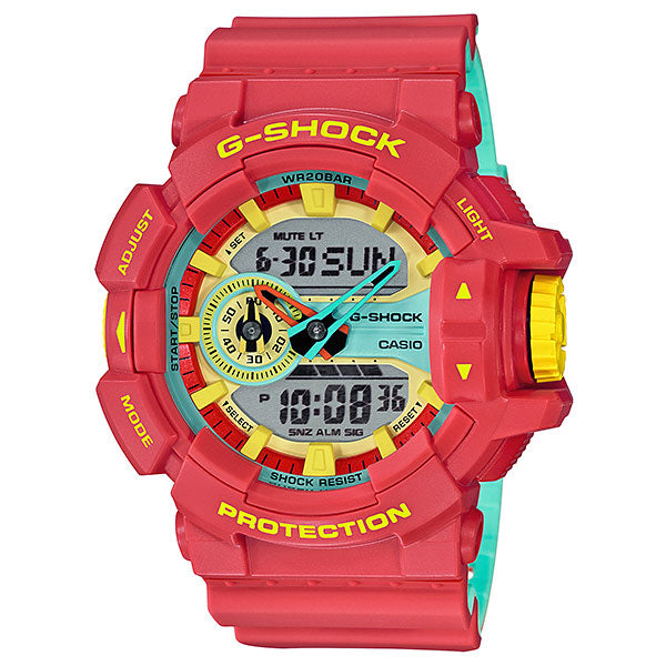 Casio G-Shock GA-400CM-4A Breezy Rasta Resin Watch