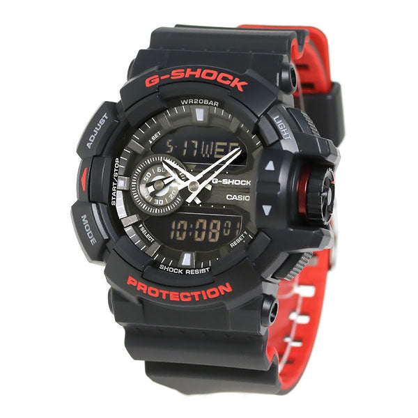 Casio G-Shock GA-400HR-1A Black x Red Heritage Color Resin Watch