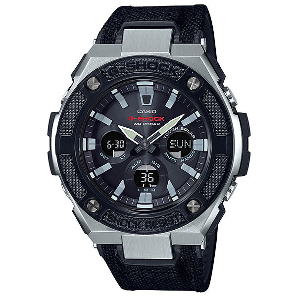 Casio G-Shock G-STEEL GST-S330AC-1A Leather Watch