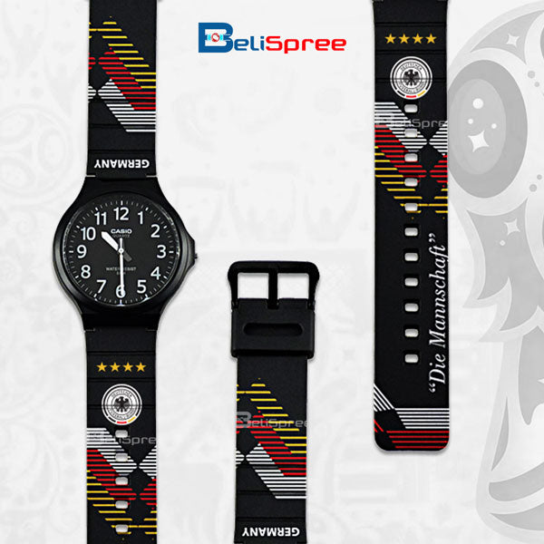 Casio MW-240 Germany Custom Design 2018 World Cup Series Resin Watch