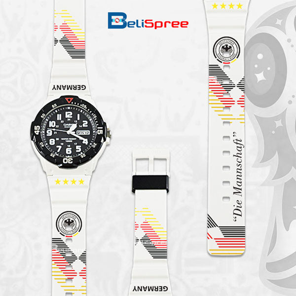 Casio MRW-200H Germany Custom Design 2018 World Cup Series Resin Watch