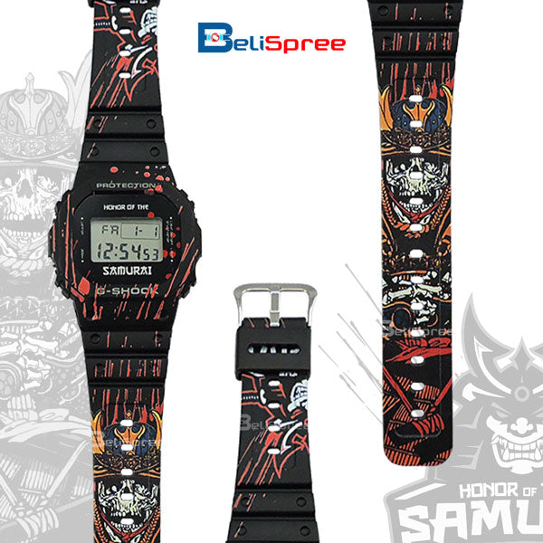 Casio G-Shock DW-5600 Honor of the Samurai Custom Design Japan Edition Resin Watch