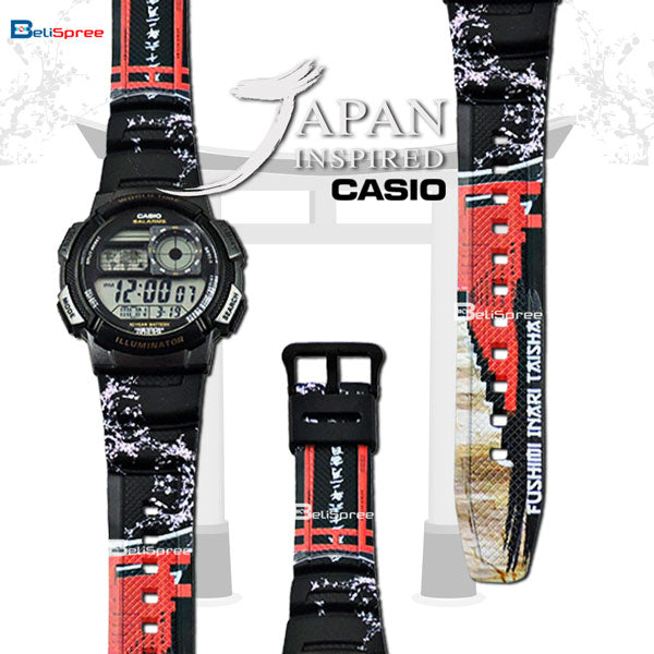 Casio AE-1000W Inari Shrine Custom Design Japan Edition Resin Watch