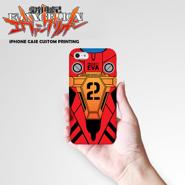 Neon Genesis Evangelion Design 8 Hard & Soft Slim TPU iPhone Case Cover for Apple iPhone