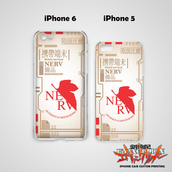 Neon Genesis Evangelion Design 10 Hard & Soft Slim TPU iPhone Case Cover for Apple iPhone