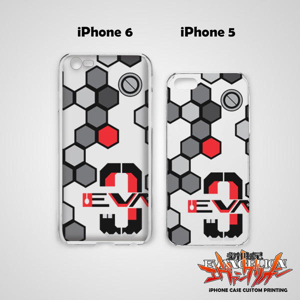 Neon Genesis Evangelion Design 15 Hard & Soft Slim TPU iPhone Case Cover for Apple iPhone