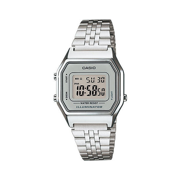 Casio LA-680WA-7D Stainless Steel Watch