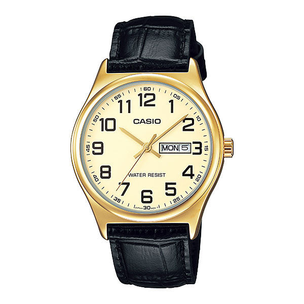Casio MTP-V003GL-9B Men's Leather Watch
