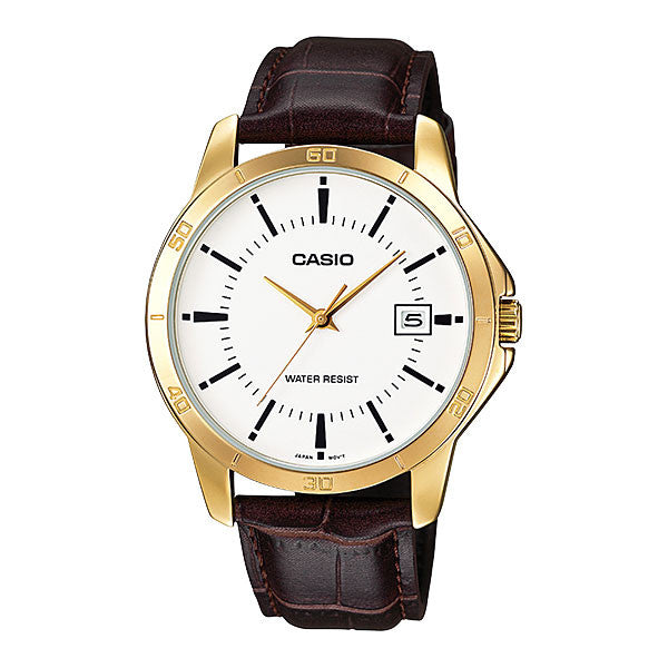 Casio MTP-V004GL-7A Men's Leather Watch