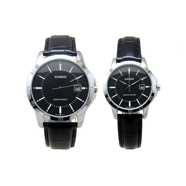 Casio MTP-V004L-1A & LTP-V004L-1A Leather Watch