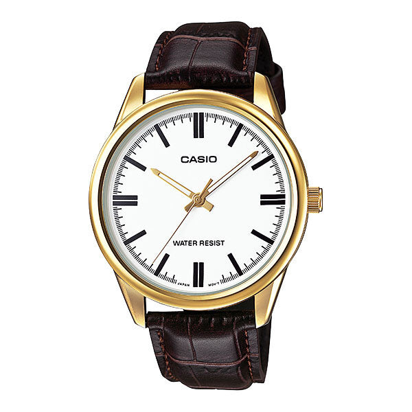 Casio MTP-V005GL-7A Men's Leather Watch