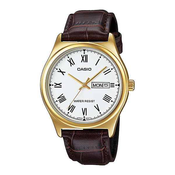 Casio MTP-V006GL-7B Men's Leather Watch