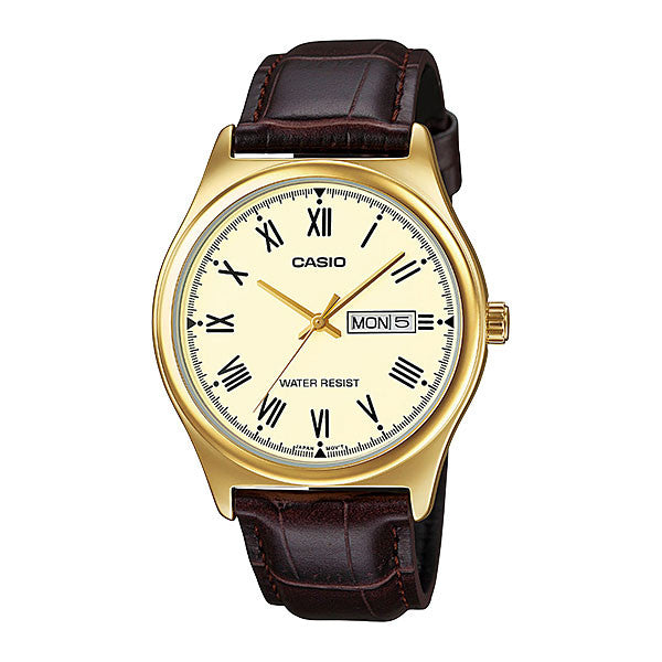 Casio MTP-V006GL-9B Men's Leather Watch