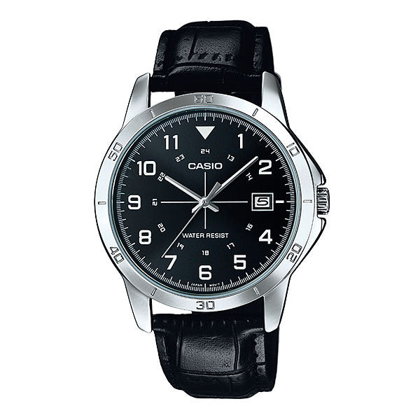 Casio MTP-V008L-1B Men's Leather Watch