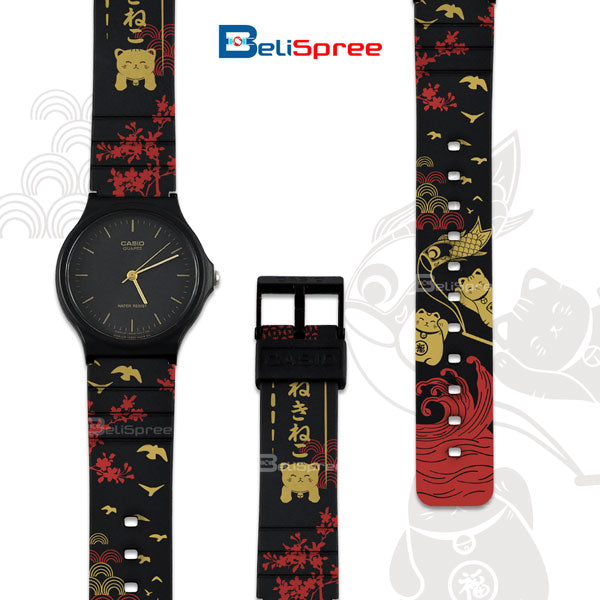 Casio MQ-24 Neko Cat Custom Design Japan Edition Resin Watch