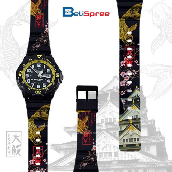 Casio MRW-200H Osaka Castle Custom Design Japan Edition Resin Watch