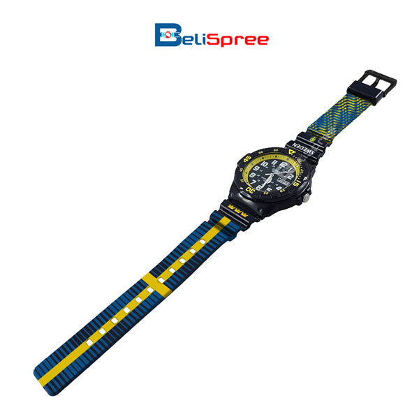 Casio MRW-200H Sweden Custom Design 2018 World Cup Series Resin Watch
