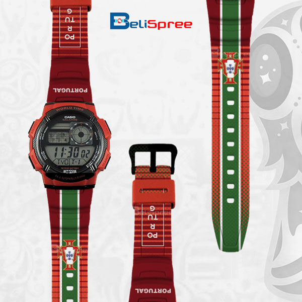 Casio AE-1000W Portugal Custom Design 2018 World Cup Series Resin Watch