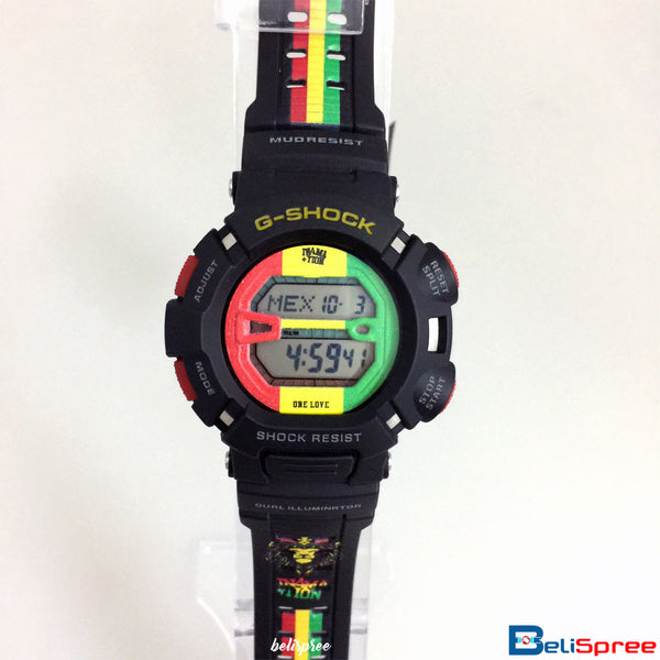 Casio G-Shock DW-6900 Rastafari One Love Custom Printed Assembled Resin Watch