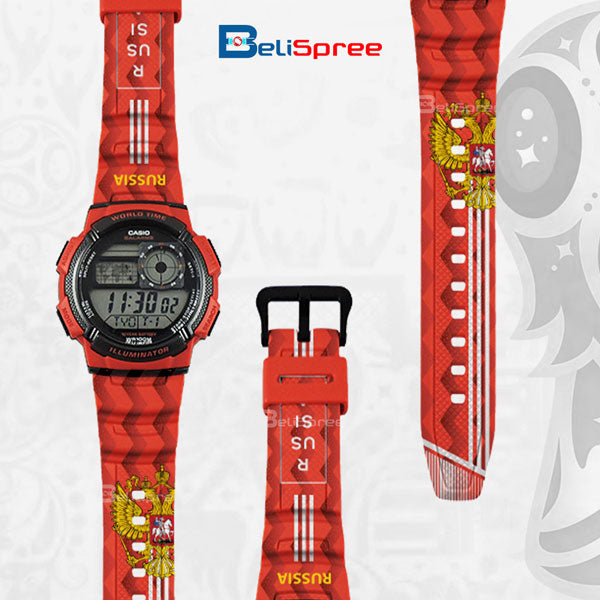 Casio AE-1000W Russia Custom Design 2018 World Cup Series Resin Watch