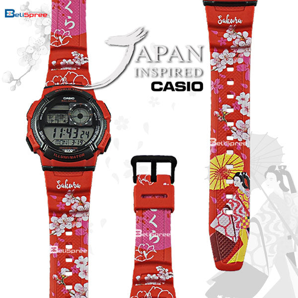 Casio AE-1000W Sakura Custom Design Japan Edition Resin Watch