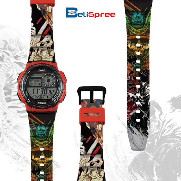 Casio AE-1000W Samurai Kamae Custom Design Japan Edition Resin Watch