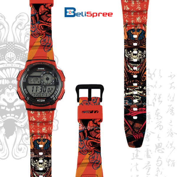 Casio AE-1000W Samurai Spirit Custom Design Japan Edition Resin Watch