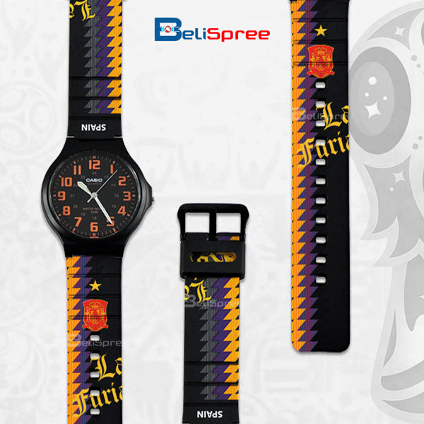 Casio MW-240 Spain Custom Design 2018 World Cup Series Resin Watch