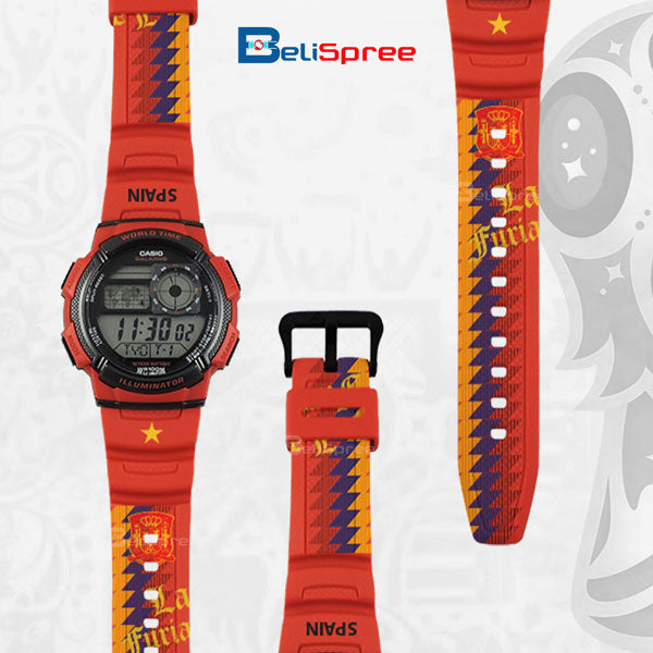Casio AE-1000W Spain Custom Design 2018 World Cup Series Resin Watch