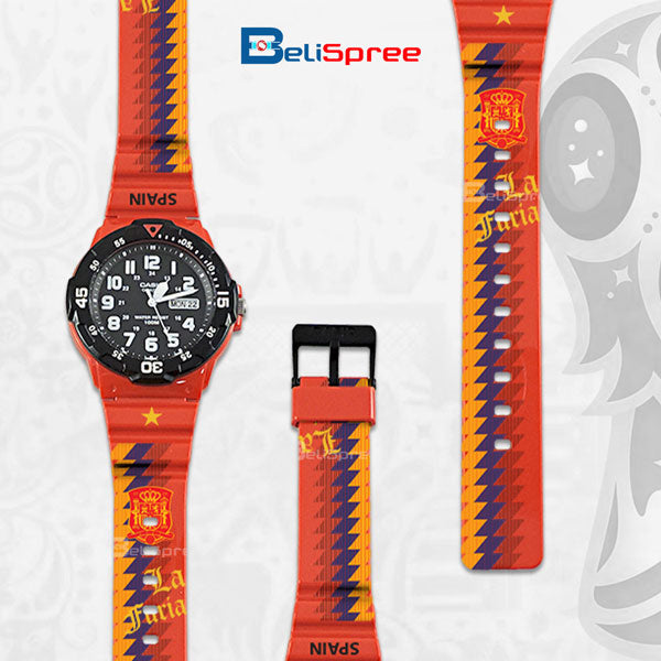 Casio MRW-200H Spain Custom Design 2018 World Cup Series Resin Watch
