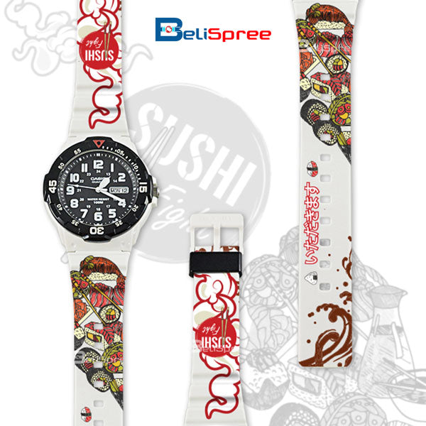 Casio MRW-200H Sushi Fight Custom Design Japan Edition Resin Watch