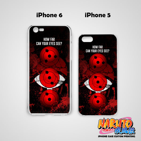 Naruto Uchiha Sharingan Hard & Soft Slim TPU iPhone Case Cover for Apple iPhone
