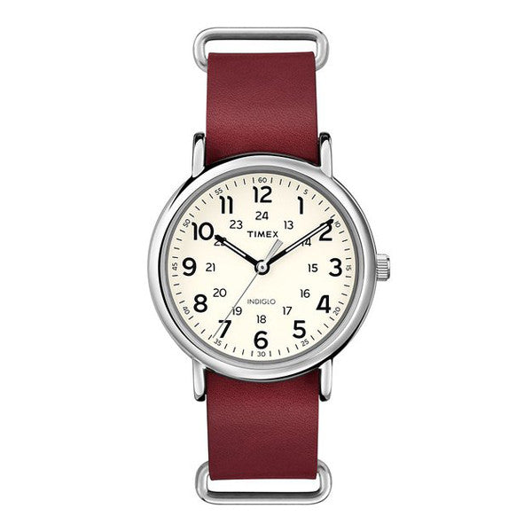 Timex T2P493 Weekender 40 Leather Watch