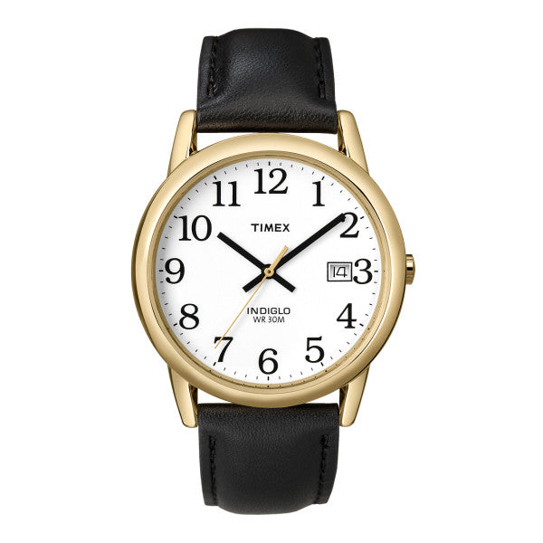 Timex T2H291 Easy Reader Leather Watch