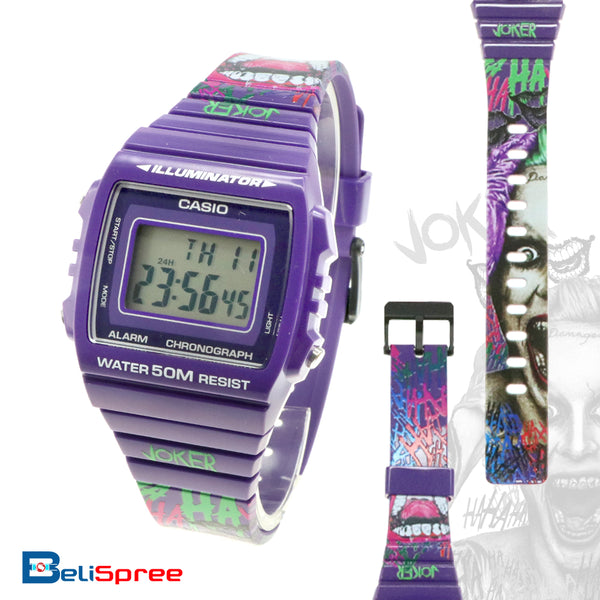 Casio W-215H Joker Custom Design Special Edition Resin Watch