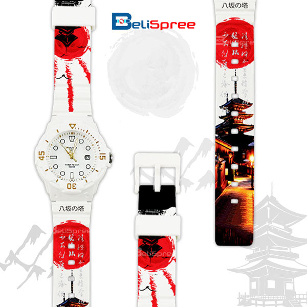 Casio LRW-200H Yasaka Pagoda Custom Design Japan Edition Resin Watch