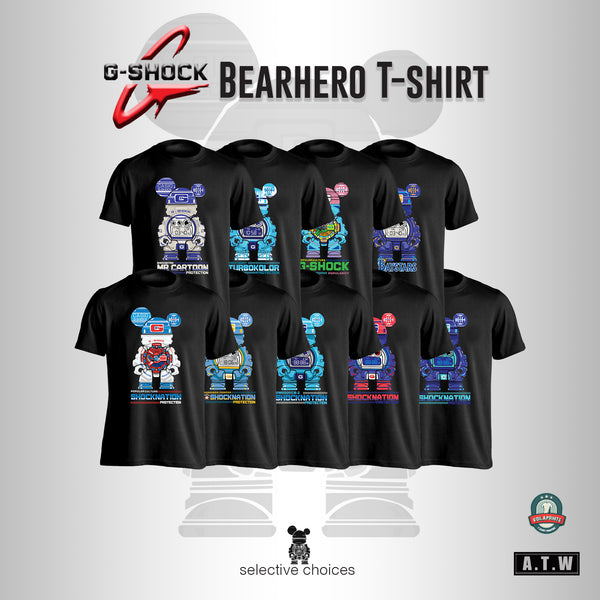 Bulk G-Shock Collaboration BearHero 20x Men's T-Shirt