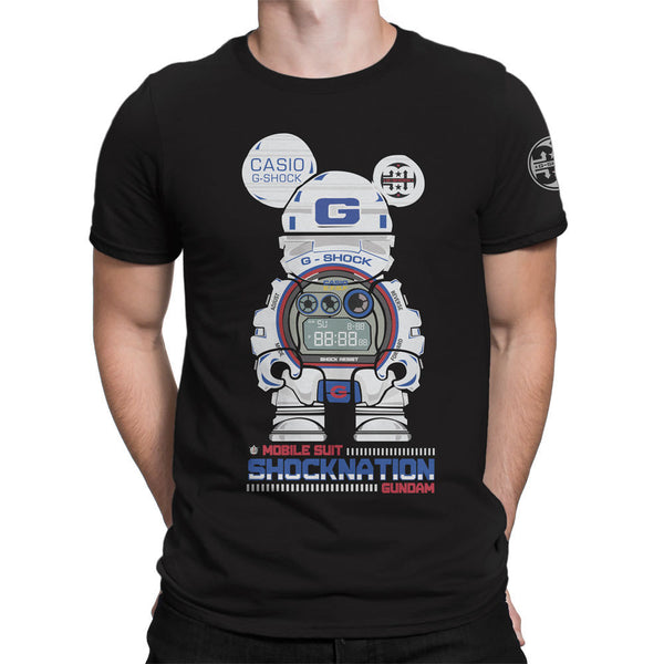 G-Shock Collaboration BearHero Gundam Men's T-Shirt