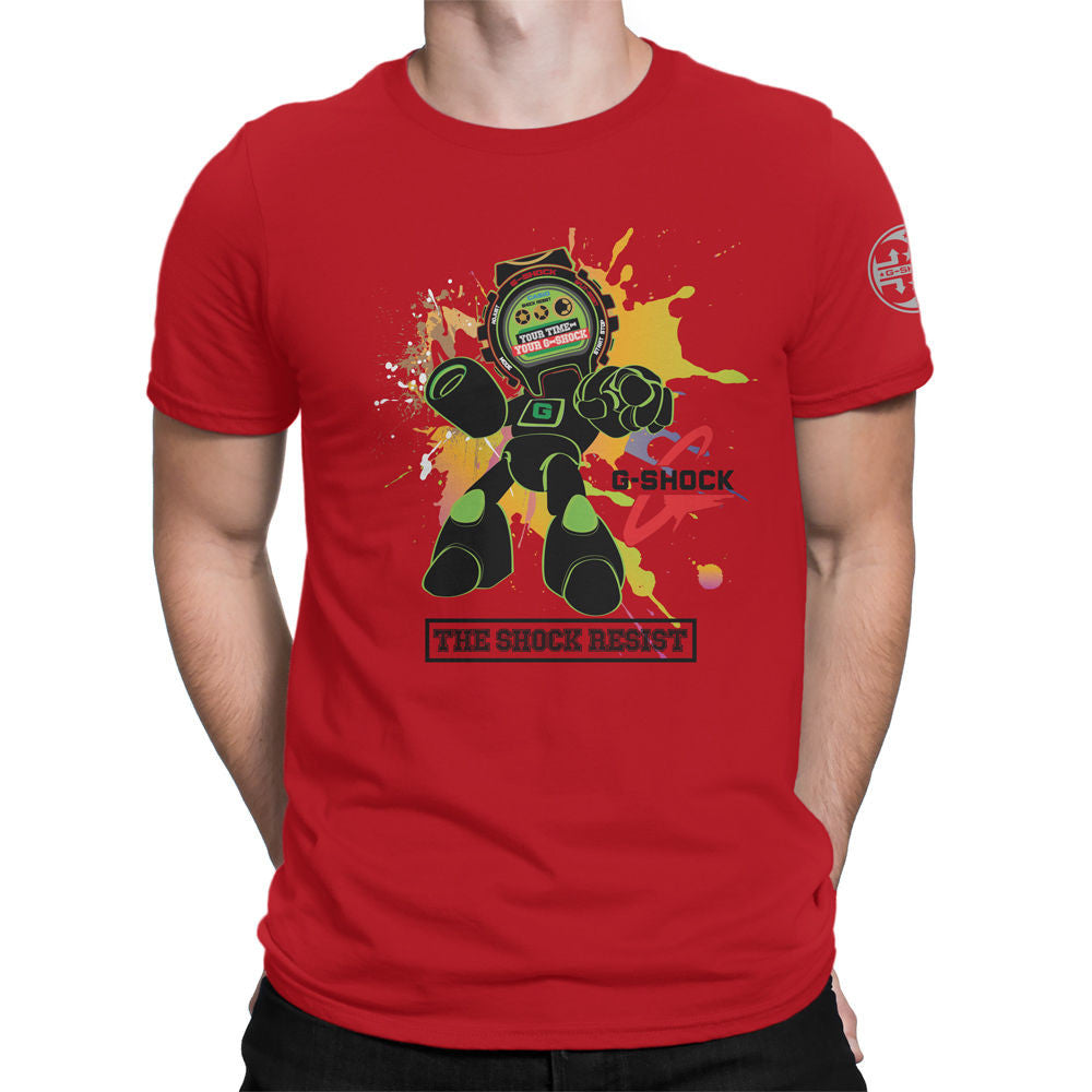 G-Shock Green Tech Robot Men's T-Shirt