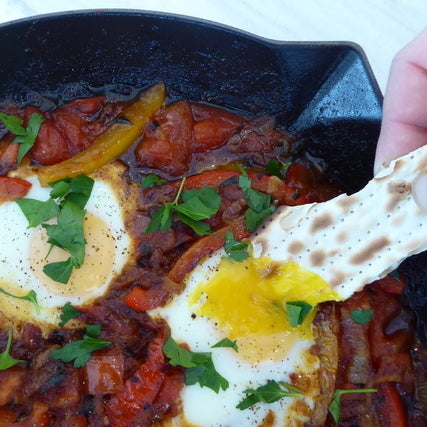 8 Delicious Gourmet Days of Matzah: Breakfast with Dr. Shakshuka