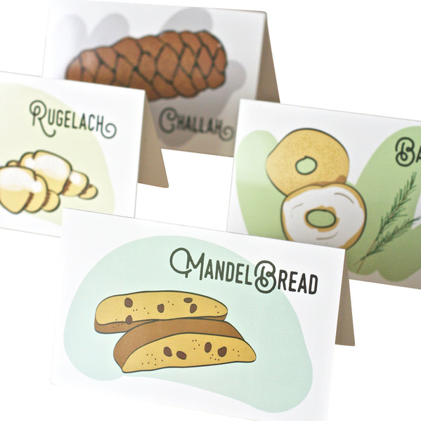 "Jewish ""Baked Goods"" Blank Cards"