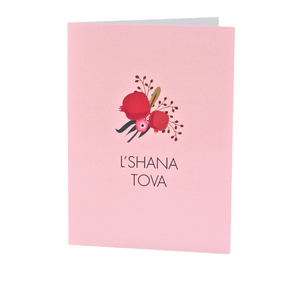 """L'Shana Tova"" Pomegranate Greeting Card"